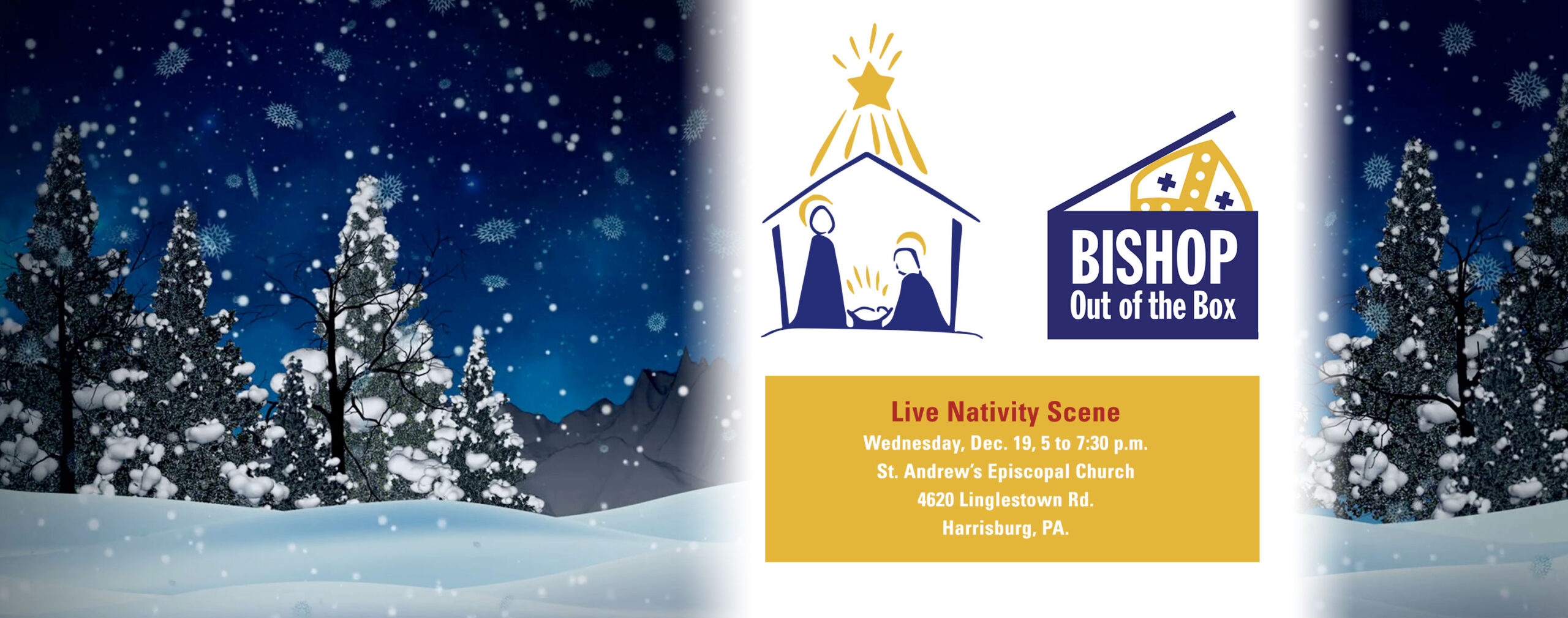 Live Nativity Scene - Bishop Out of the Box