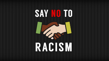 Say no to racism vector illustration