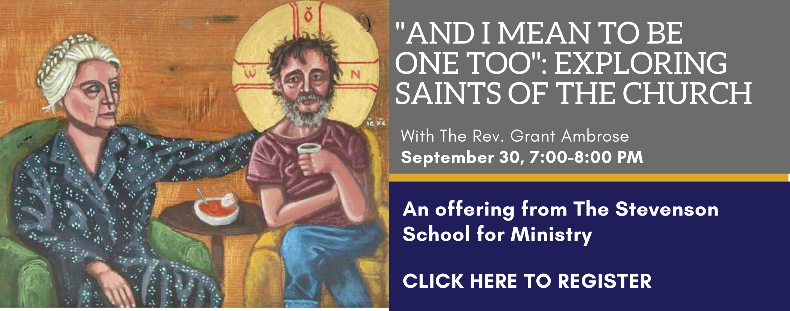 And I Mean to be One Too Course on Saints-- click here to register